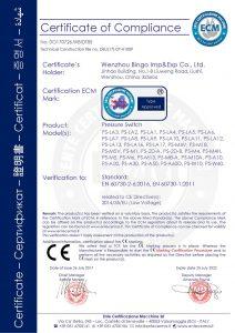 CE für Druckschalter